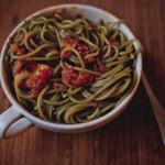 Kuchnia: Spaghetti z sosem pomidorowym i kurczakiem