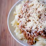 Kuchnia: Tagiatelle z mięsem mielonym
