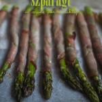 Szparagi pieczone w szynce parmeńskiej